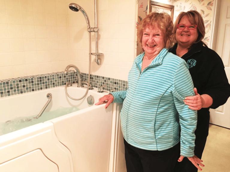 Spa with walk in bathtub